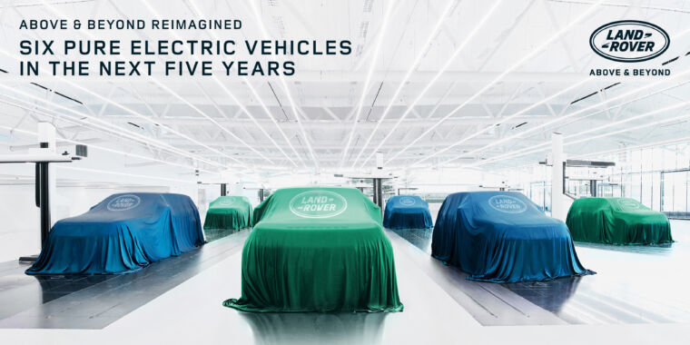 Technology Six new electric Land Rovers by 2026, and Jaguar is going all-EV