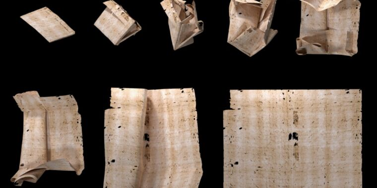 """Technology """"Locked"""" for 300 years: Virtual unfolding has now revealed this letter's secrets"""