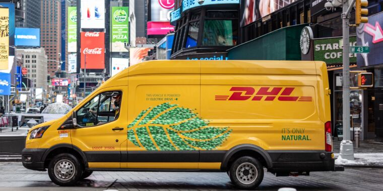 Technology Electric vans are all the rage at DHL, UPS—maybe even USPS, too