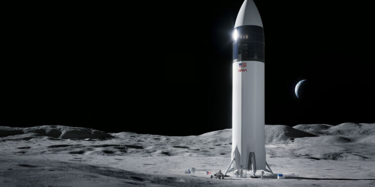 Technology NASA selects SpaceX as its sole provider for a lunar lander
