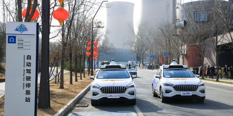 Technology A Chinese company has started charging for fully driverless rides