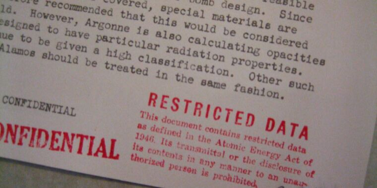 Technology Restricted Data explores controversial history of nuclear secrecy