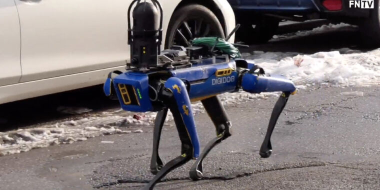 """Technology The NYPD retires """"Digidog"""" robot after public backlash"""