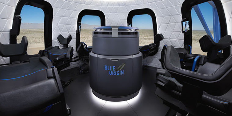 Technology Blue Origin opens an auction for a seat on its suborbital rocket flights