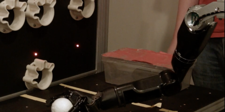 Technology Researchers add sense of touch to robotic arm via brain implant