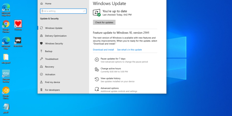 Technology Windows 10 21H1 available now, improves document load times