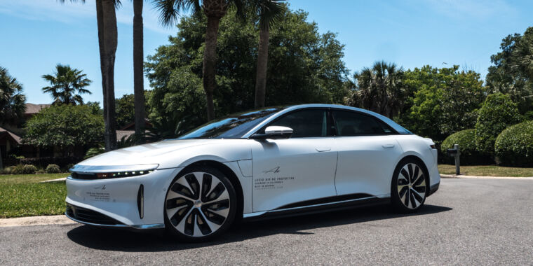 Technology We got our first ride in the electric Lucid Air sedan