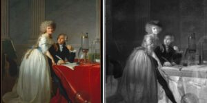 Technology X-ray analysis reveals hidden composition under iconic portrait of the Lavoisiers